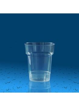 Plastičen kozarec PS 200 ml ozek, 25 kos