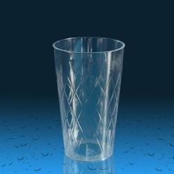 Plastičen kozarec PS 300 ml romb, 15 kos