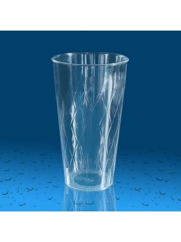 Plastičen kozarec PS 500 ml romb, 10 kos