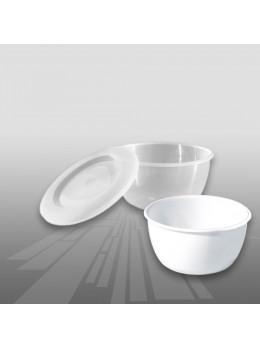 Plastična skodelica s pokrovom PP 800 ml, 100 kos